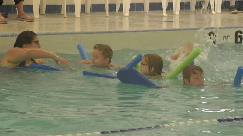 Summer swim sessions are in full swing at the downtown Watertown YMCA