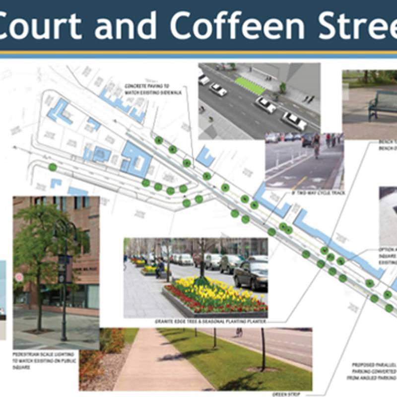 The city of Watertown is asking the public's opinion of plans for a streetscape project downtown.