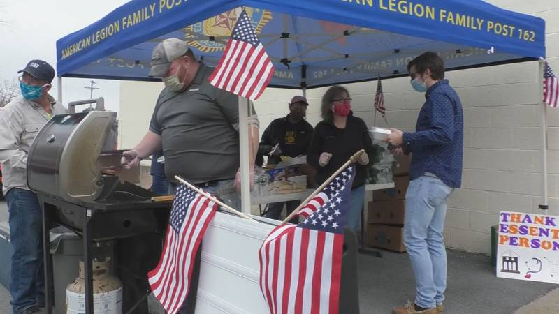 Taking care of essential workers with a cookout - that's the latest mission for the Lowville...