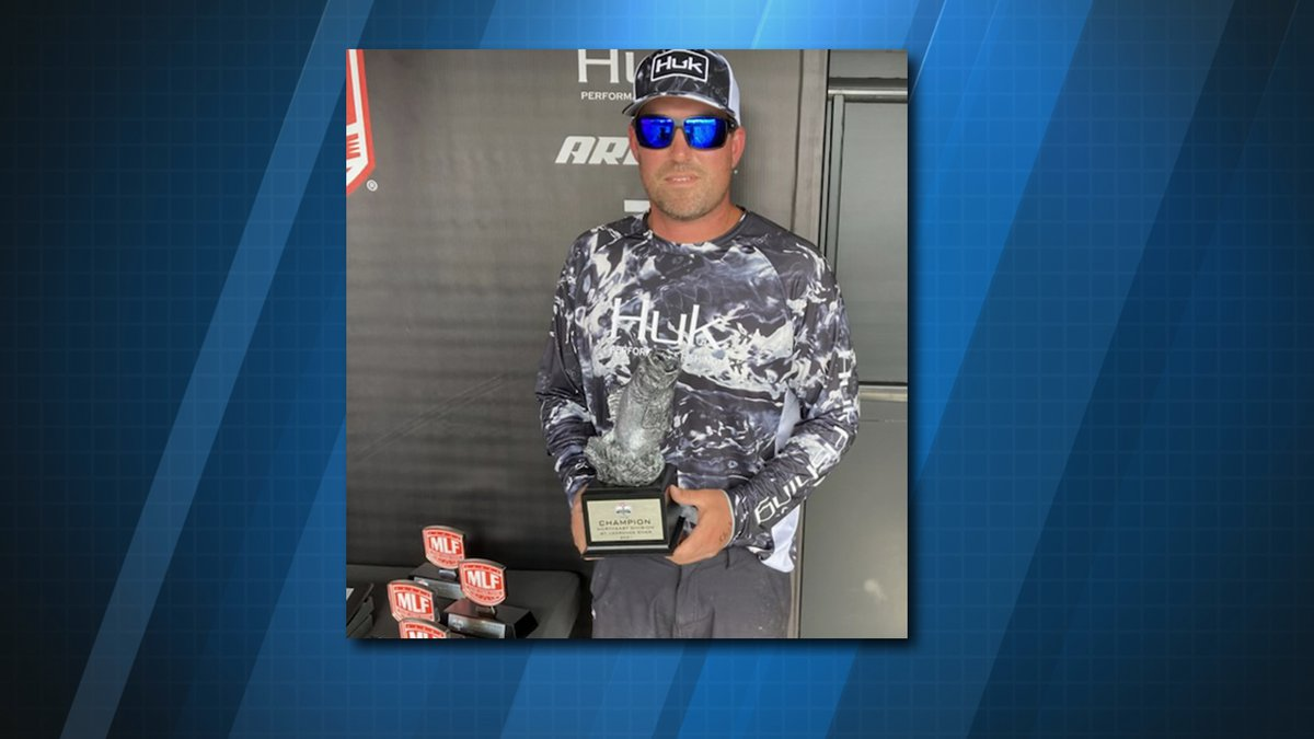 Matthew Grant of Norwood took first place in a pro fishing tournament in Massena over the...