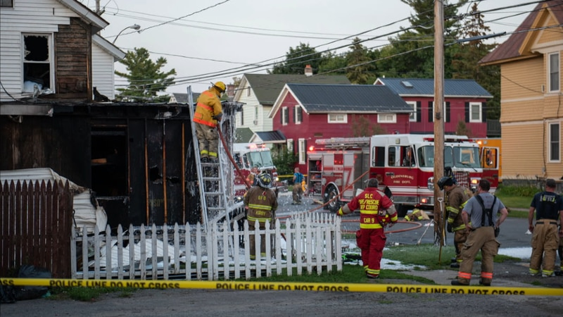 A home was destroyed by fire in Ogdensburg Saturday night.