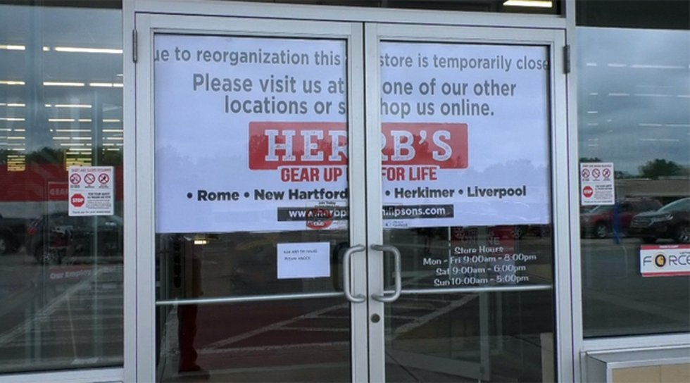 The owner of the Herb Philipson's sporting goods chain says he closed the Watertown store...