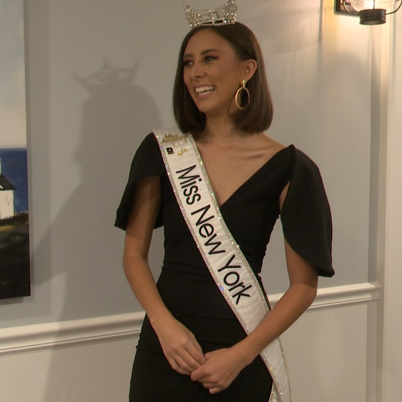 She's Miss New York and she'll be competing in this year's Miss America Pageant and she visited...