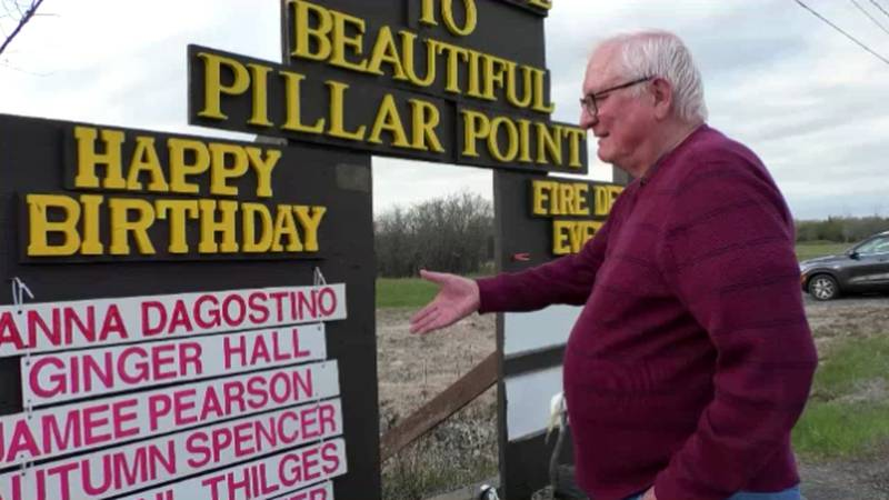 """John Mossing has been posting """"happy birthday"""" wishes to Pillar Point residents since 2003."""
