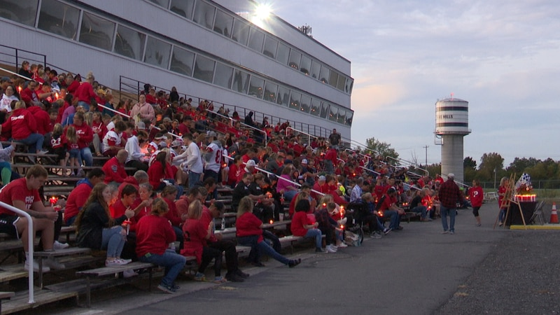 It was a sea of red at Evans Mills Raceway on Tuesday evening.