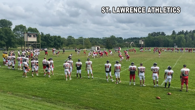 Saturday night, the St. Lawrence Football Team held it's annual Red-White Intra-squad Scrimmage...