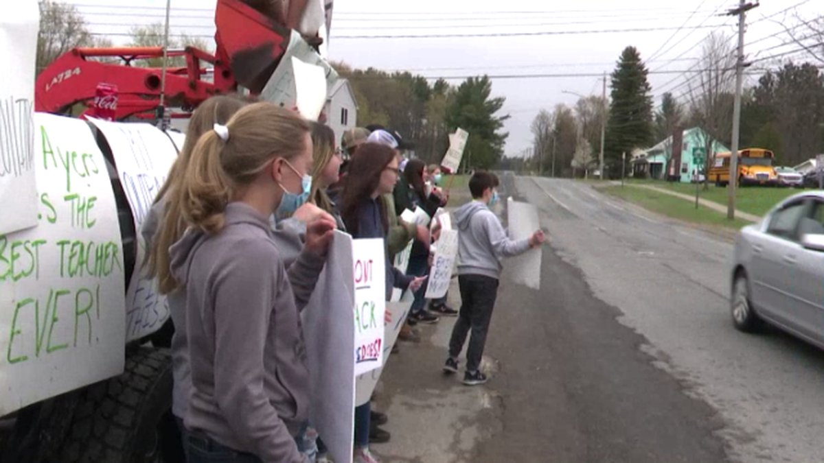 Students at Parishville-Hopkinton Central School protested Thursday to have a  teacher brought...