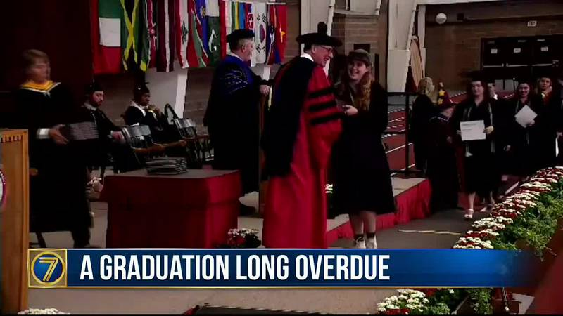 Students in St. Lawrence University's Class of 2020 finally got to celebrate their commencement.