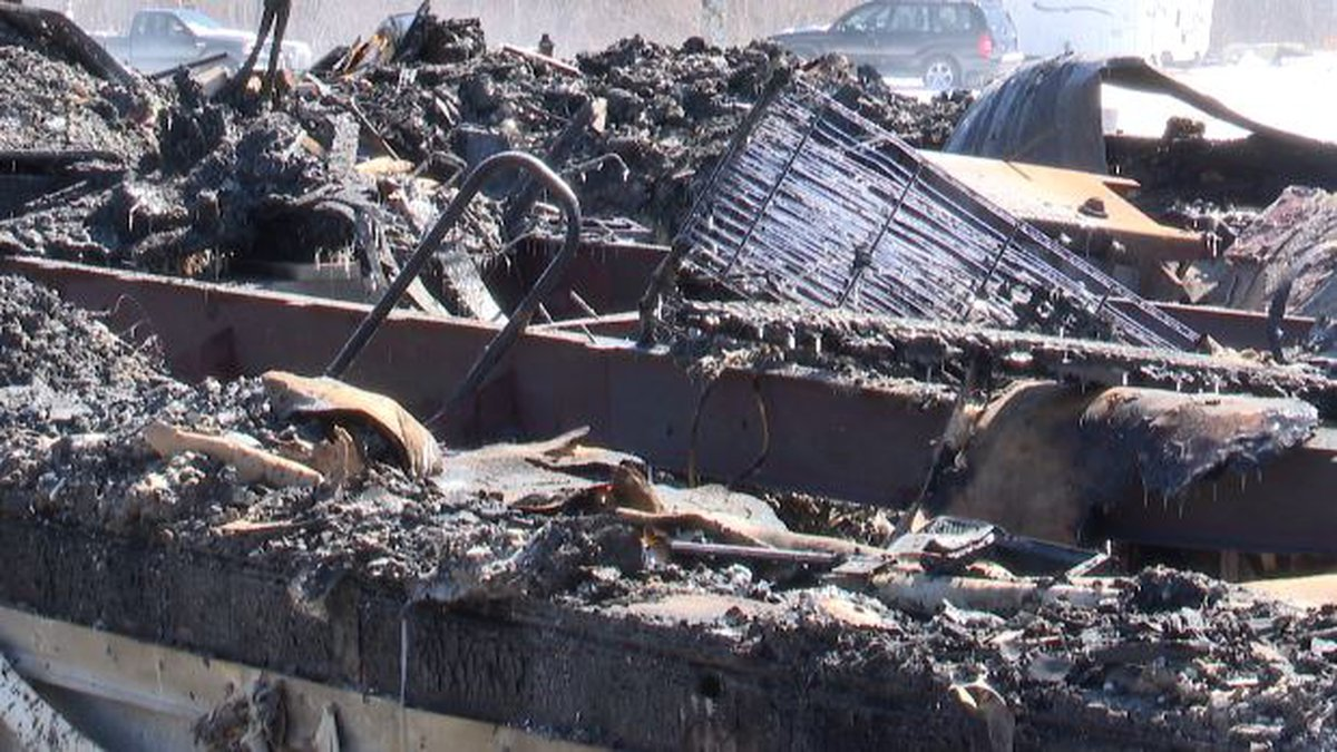 A fire in the town of Montague destroyed a home early Friday morning