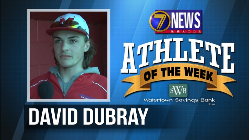 David is the 7 News - Watertown Savings Bank North Country Athlete of the Week for June 4, 2021.