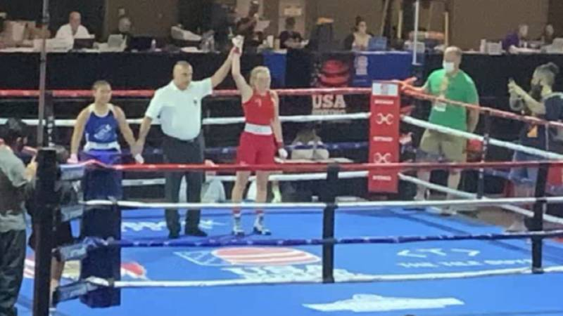 Gouverneur boxer Randi Griffith brought home gold in the 132-pound weight class in the Junior...