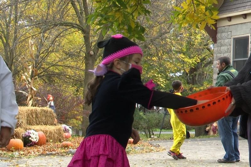 It's not Halloween yet, but people had the chance Sunday to dress up and go trick-or-treating...