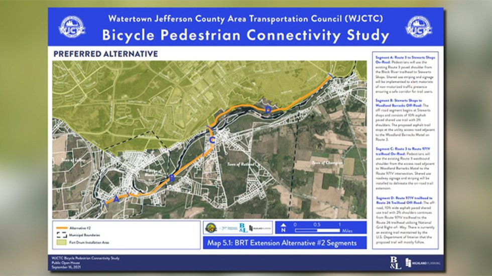 Developers unveiled their preferred option for expanding the Black River Trail Thursday night.