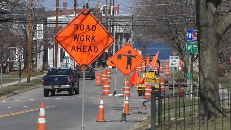 Clayton road work