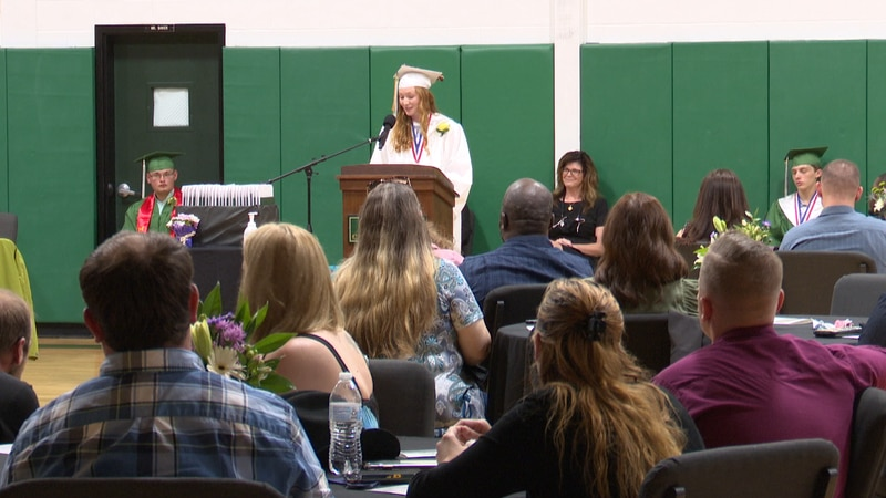 The class of 2021 received their diplomas at Lyme Central School Friday night.