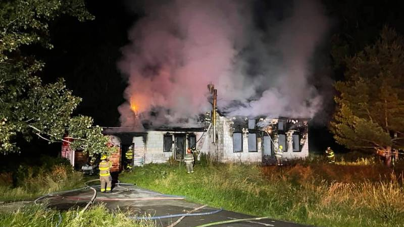A Town of Antwerp home was destroyed by flames early Saturday morning.