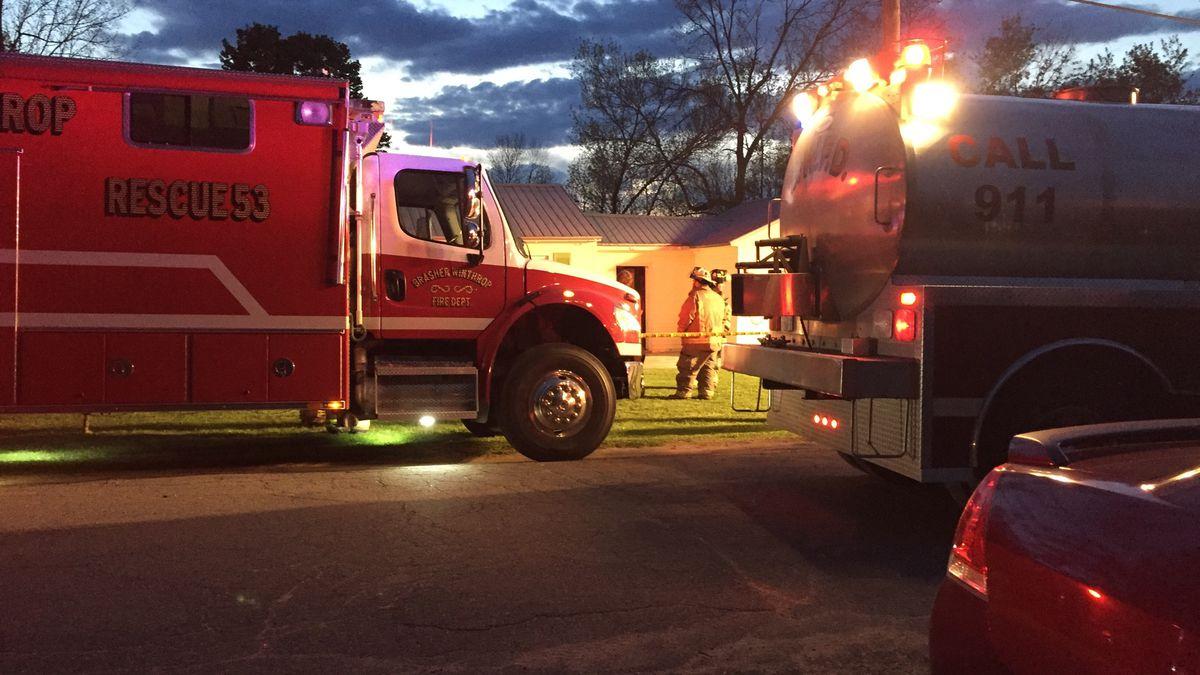 A man is dead following a house fire in Winthrop Saturday night.