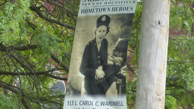 Hometown Heroes from now and then were honored at a banner ceremony in Sackets Harbor Saturday.