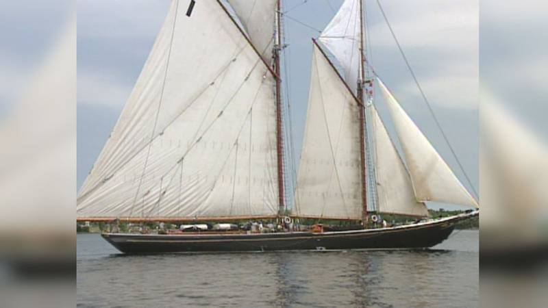 Tall ships on Lake Ontario.  A Blast from the Past, June 2001