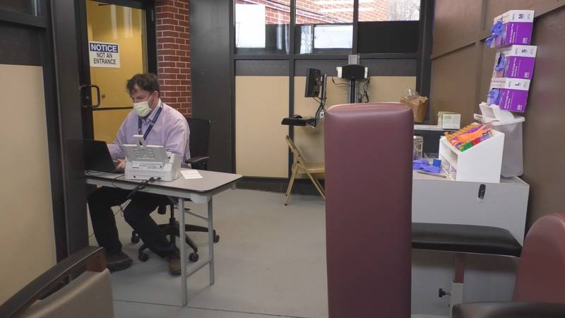 Lewis County General Hospital transformed a space into a temporary lab draw room.
