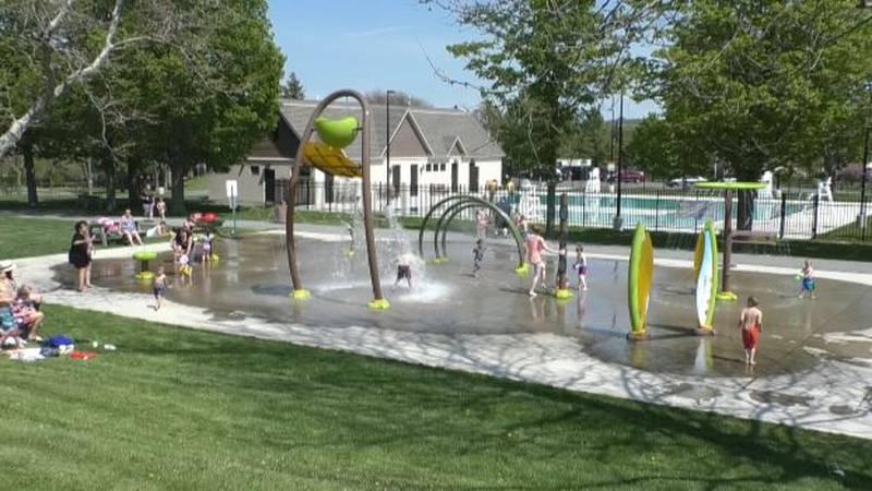 Splash pad at Watertown's Thompson Park