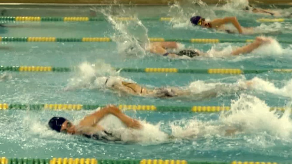 St. Lawrence Central and Potsdam faced off in girls' high school swimming Tuesday