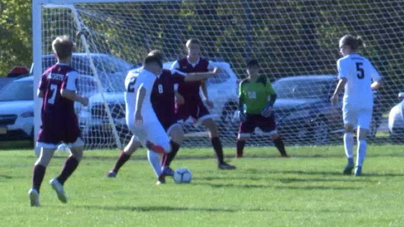 It was a Frontier League boys' soccer match-up in Sackets Harbor as the Patriots hosted the...