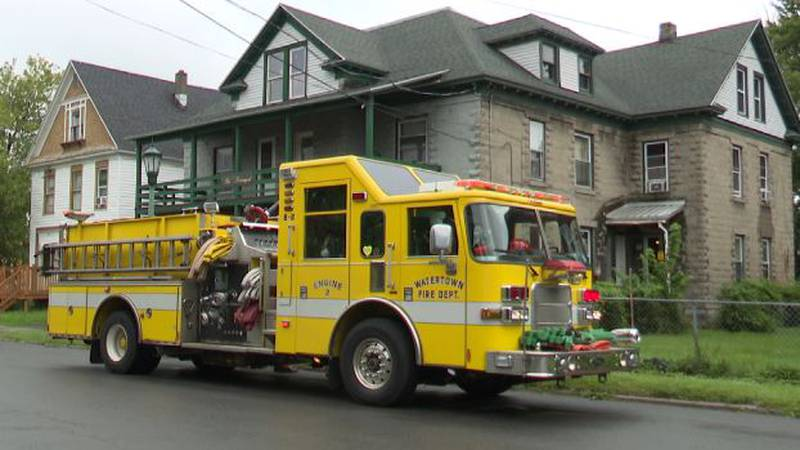 Fire at 121 William Street in Watertown