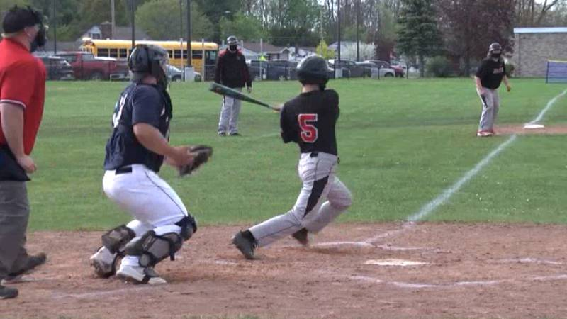 The St. Lawrence Central Larries and the Tupper Lake lumberjacks faced off on the baseball...