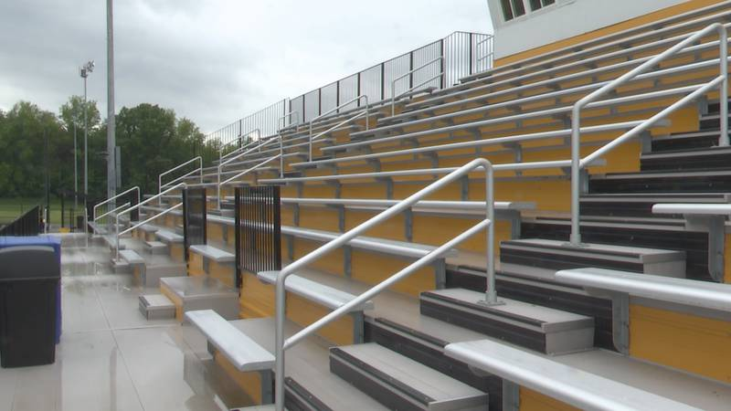 People will be in the bleachers, but not for sports. For high school graduations.