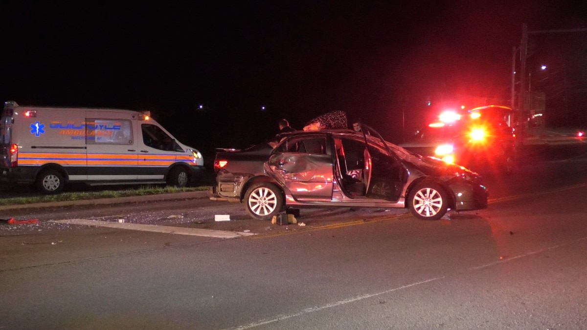 A rollover crash in Brownville led to a foot chase Saturday night.