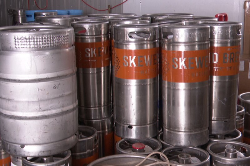 A local brewery has to stop production temporarily thanks to a structure fire in its warehouse.