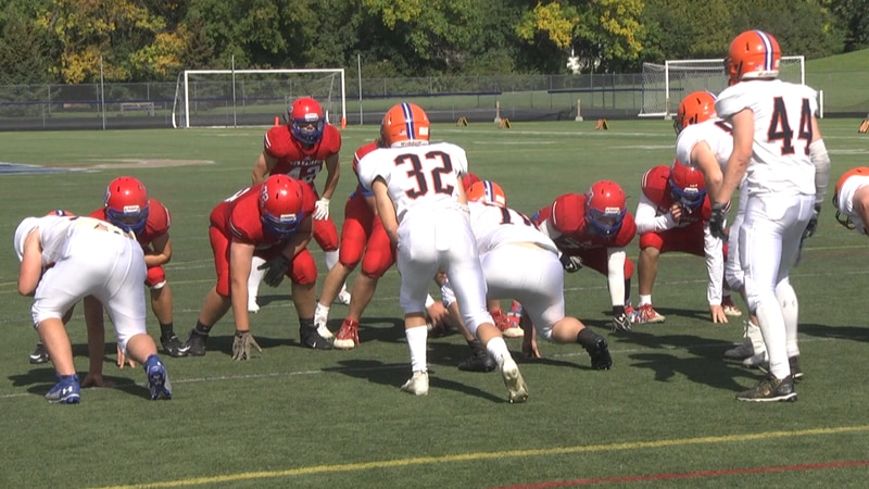 A rare Sunday afternoon high school football contest took place in the Northern Athletic...