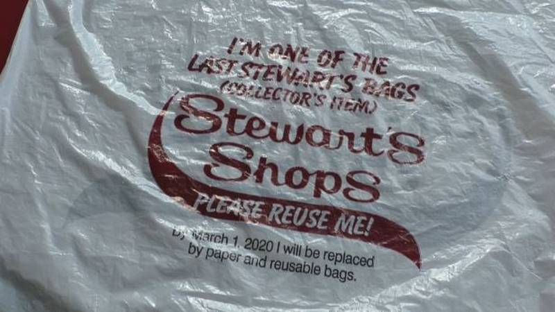 With about a week until the state's plastic bag ban hits, Stewart's Shops are saying goodbye to...