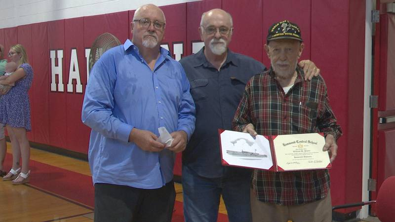 A moment 80 years in the making. A WWII veteran finally gets his high school diploma