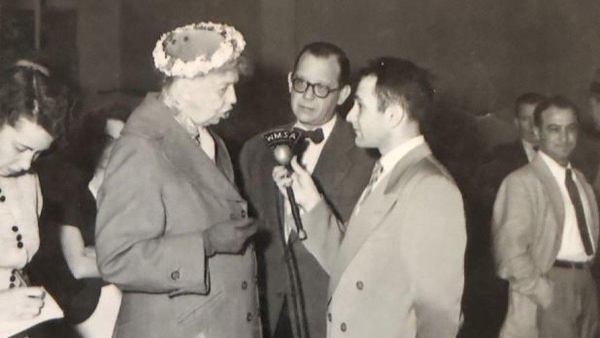 Danny Burgess interviewing Eleanor Roosevelt