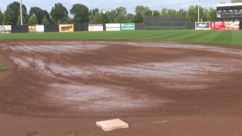 A rain-soaked field forced the Watertown Rapids to cancel their final game of the season.