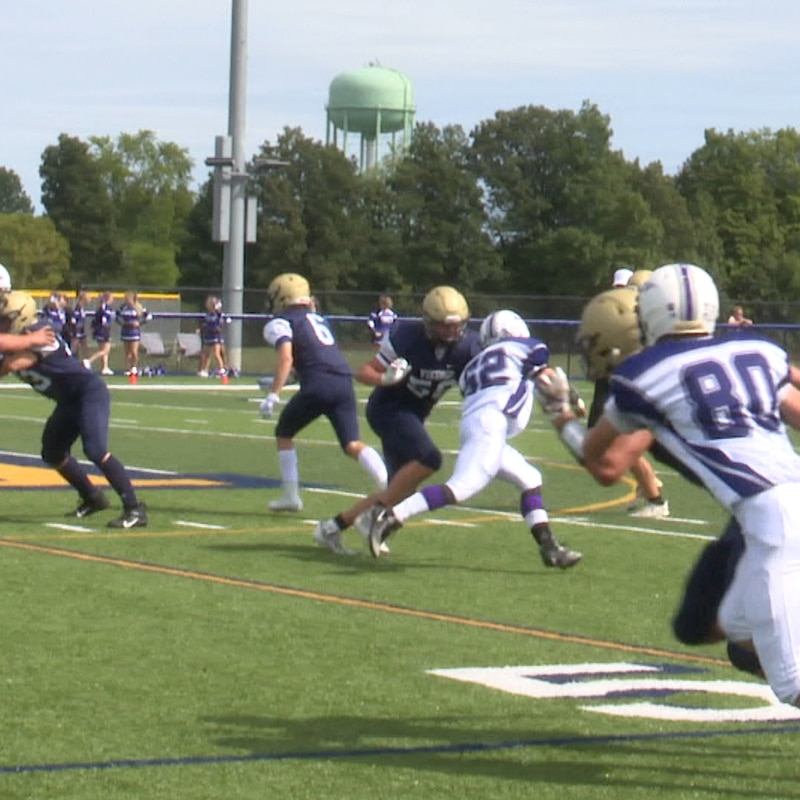 Some 8 man football action took place Saturday afternoon in Cape Vincent as the Thousand...