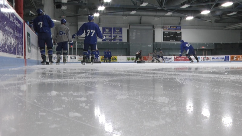 The Watertown Wolves were on the ice Thursday morning at the Fairgournds Ice Arena as they have...