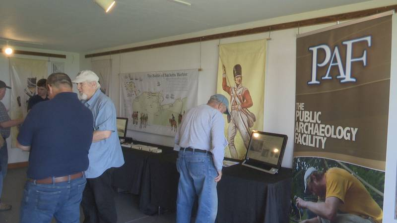Researches use artifacts unearthed on Horse Island to tell the story of a War of 1812 battle.