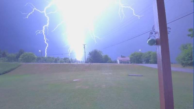 Lightning strike in Gouverneur