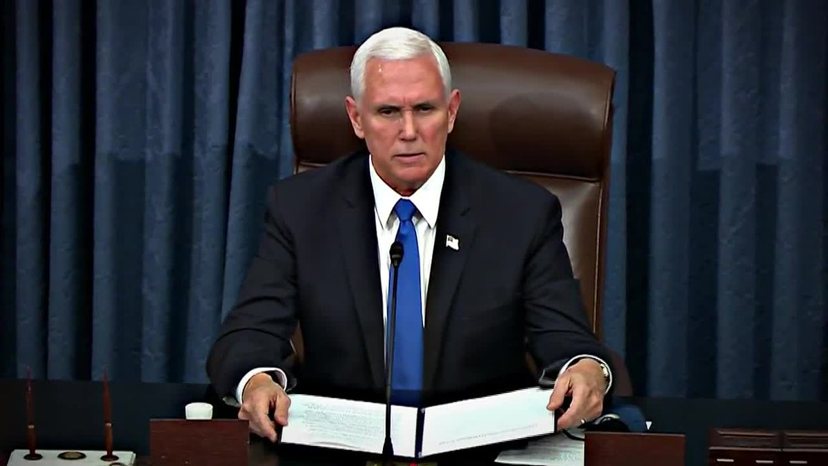 The House is calling on Vice President Mike Pence to remove President Trump. If not, they will...