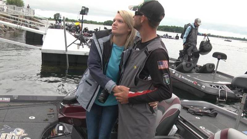Families accompany competitive anglers around the country