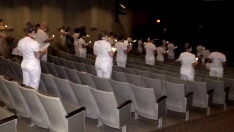 Thirty-seven Jefferson Community College nursing graduates were pinned Wednesday night in the...