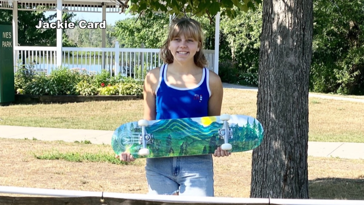 A north country teen's artwork get's decked out!