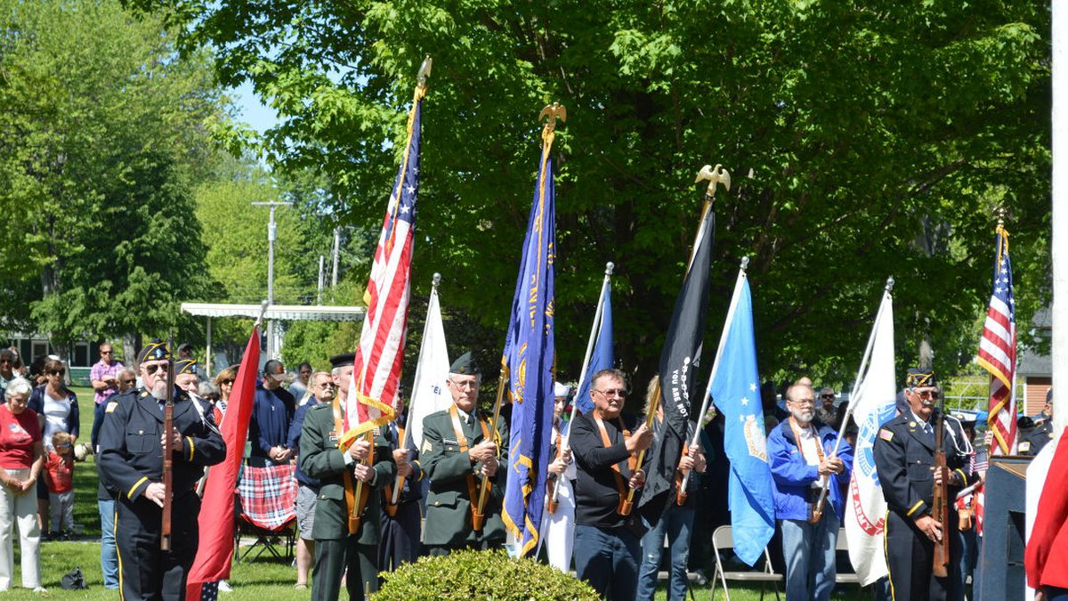 The streets were lined in Cape Vincent for the village's Memorial Day ceremony.