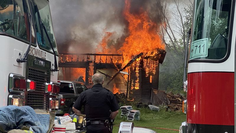 Fire at 20297 Reasoner Road in town of Brownville