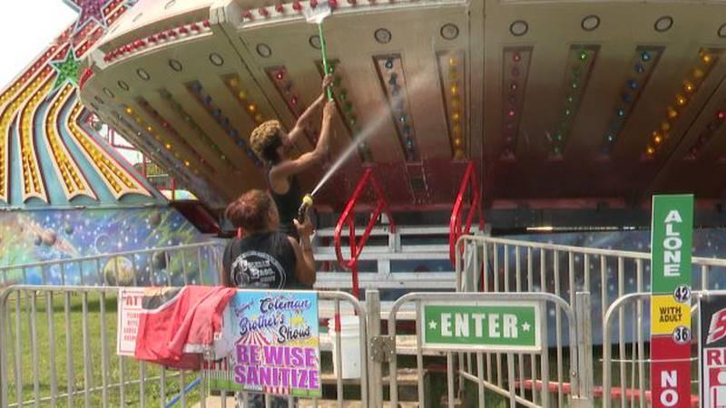 Lewis County Fair preparations