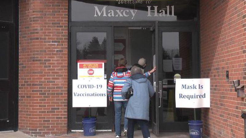 Mass vaccination site at SUNY Potsdam