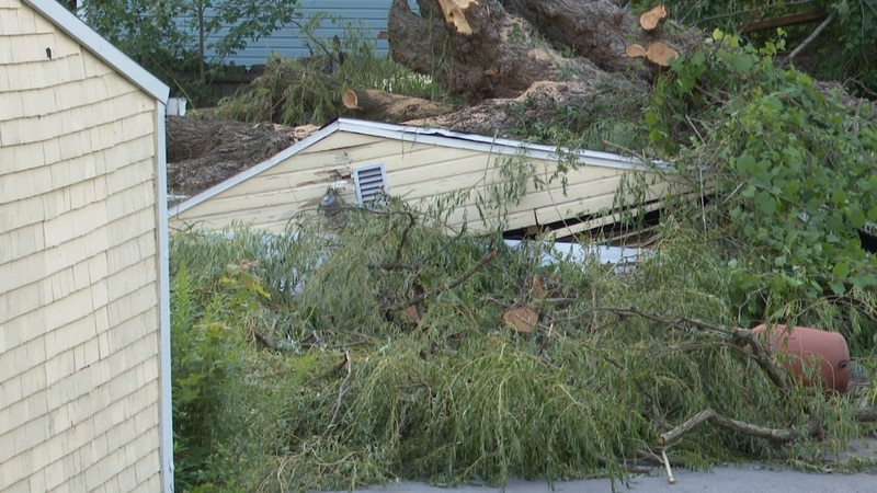 We get a look at how damaging Saturday night's storm was.